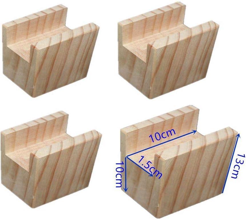 Lot de 4 Rassembleurs de lit en bois Duty Elephant Feet Mises en hauteur pour meubles Mobilier de table /él/évatrices pour canap/é-lit Chaises pour jambes