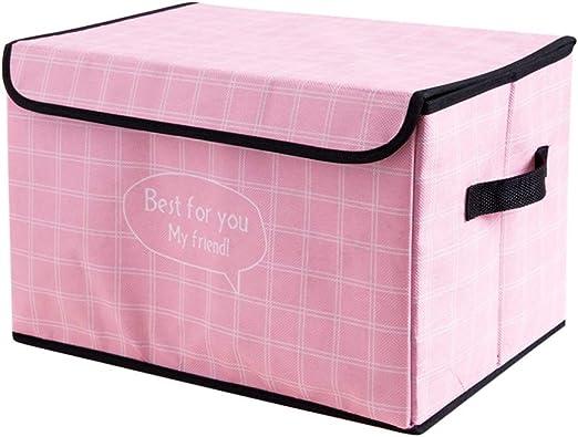 IVHJLP Cajas de almacenaje Cajas Decorativas de Almacenamiento con Tapas Oficina en casa Dormitorio Armario Organizador de Caja Caja de Archivo Rayas Elegantes, 14.6 X 9.8 X 9.8 Pulgadas: Amazon.es: Hogar
