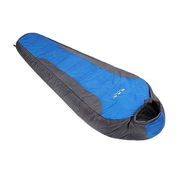 Gazelle al aire libre -5 grado algodón saco de dormir, azul: Amazon.es: Deportes y aire libre