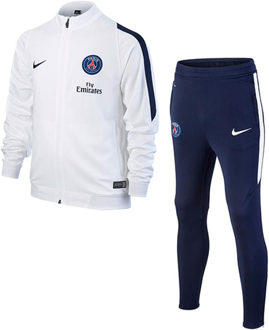 Nike Paris Saint-Germain 2015-2016 - Chándal, Color Gris/Azul ...