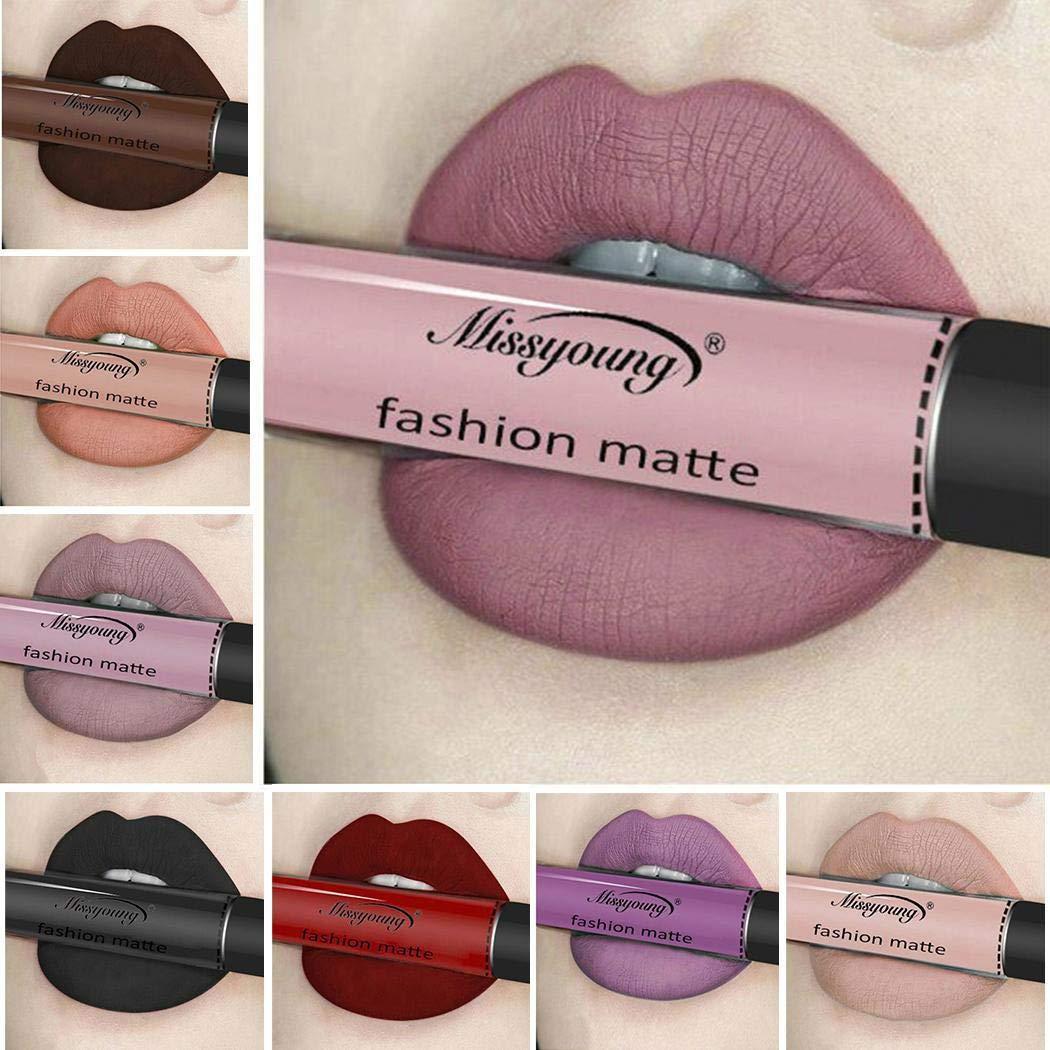12 Colors Waterproof Lip Glosses Makeup Long Lasting Matte Lipstick Liquid Pencil Lip Gloss #1 Eroihe
