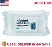 Disinfectant Wipes, 75% Alcohol Cleaning Wet Wipes(1 Pack,50 Wipes), Daily Disinfecting Use for Hand Home House Travel Offic