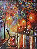Loneliness of Autumn is a VERY RARE ARTIST PROOF (AP) that is artist-embellished, hand-signed and numbered Giclee on Unstretched Canvas by Leonid Afremov. These new Artist Proofs are some of the most amazing pieces we have ever received from Leonid a...