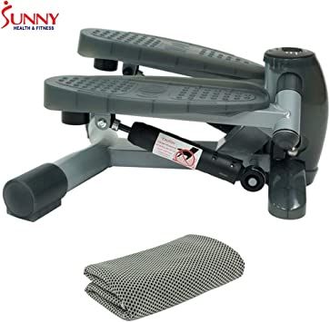 Sunny Health and Fitness Full Motion Rowing Machine Rower Cooling Towel