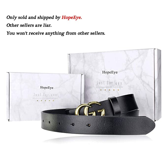 e0ff12fd60e Fashion G-Style Gold Buckle Unisex Cowhide Leather Belt Vintage Thin Dress  Belts For Jeans(Black-1.5