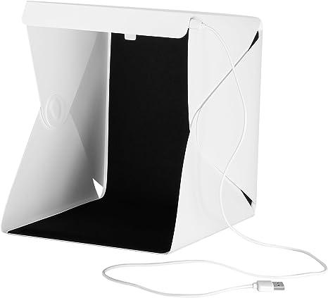 Neewer Luz LED Mesa Lightbox,Tienda Disparos Portátil Plegable Carga USB, Caja Fotografía Iluminación Estudio con Blanco y Negro Fondos para Fotografía Frutas,Joyas y Objeto Pequeño: Amazon.es: Electrónica