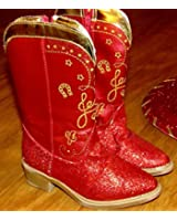 Disney Store Toy Story 3 Red Sparkle Jessie Boots Size 7/8