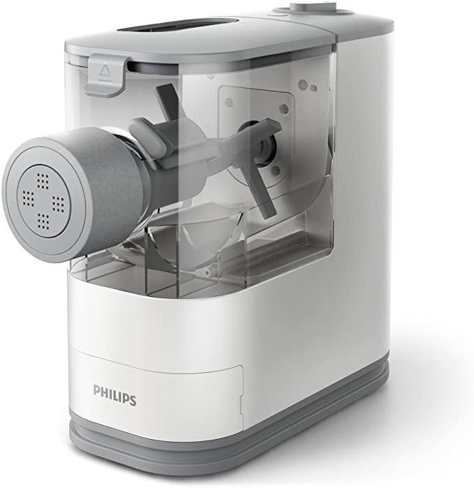 Amazon.com: Philips Compact Pasta and Noodle Maker with 3 Interchangeable Pasta Shape Plates - White - HR2370/05: Kitchen & Dining