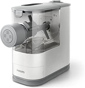 Philips Compact Pasta and Noodle Maker with 3 Interchangeable Pasta Shape Plates - White - HR2370/05