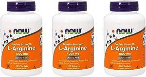 Now Foods L-Arginine 1000mg, 120 Tablets (Pack of 3)