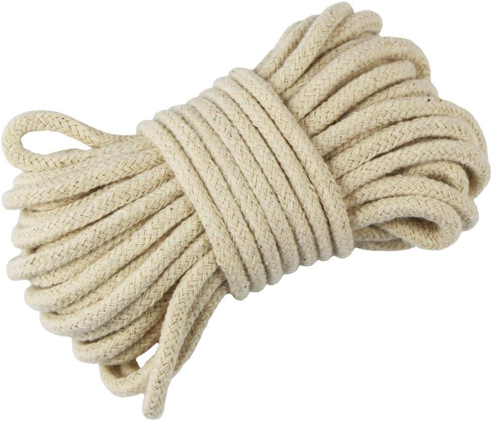 EDGEAM Cordón de Algodón 3 mm Cuerda Trenzada blanco crudo (10 metros): Amazon.es: Hogar