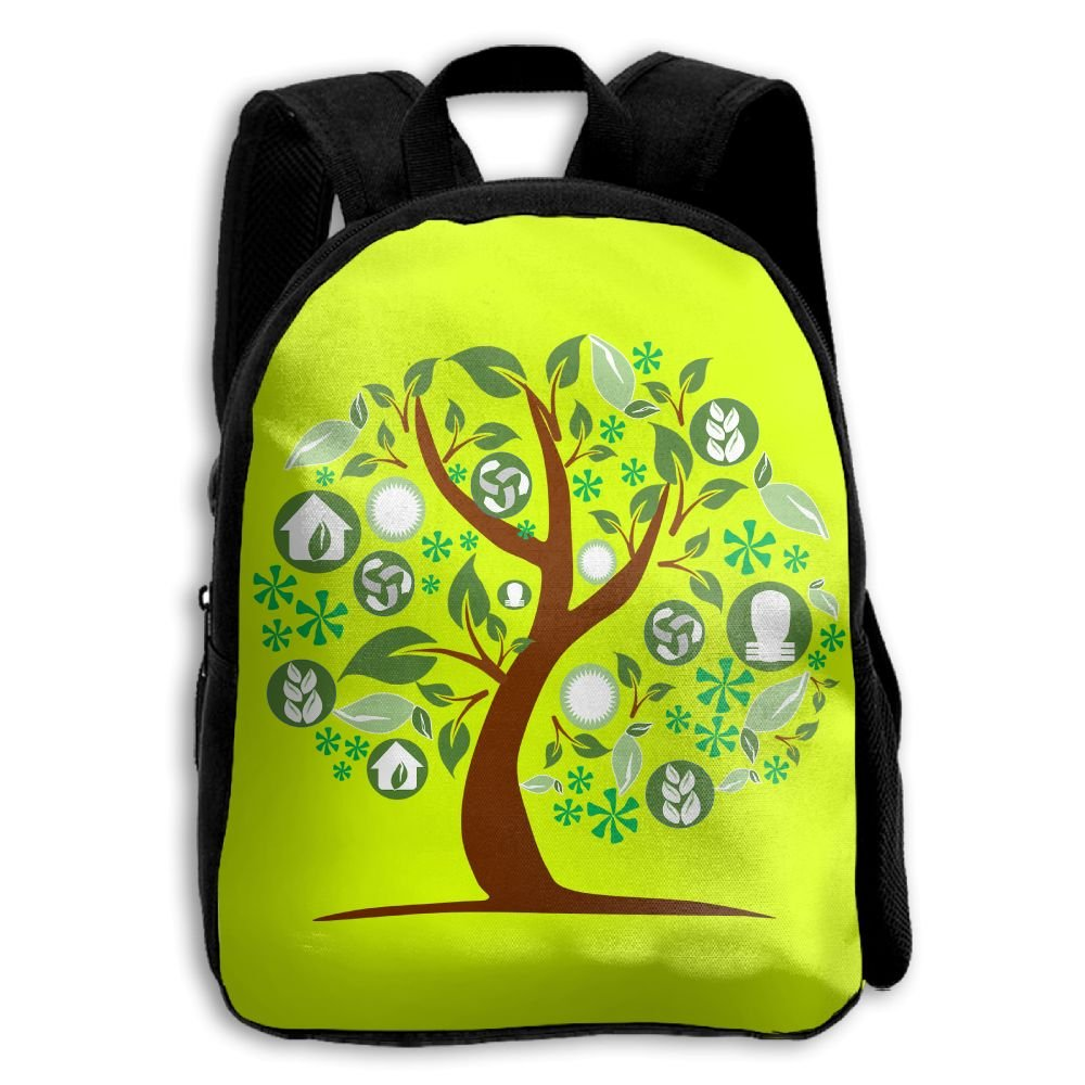 Tree Kids Backpacks Double Shoulder Print School Bag Travel Gear Daypack Gift