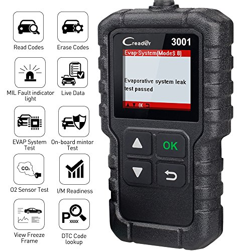 LAUNCH CReader 3001 OBD2 Scanner OBD II EOBD Car Fault Code Reader Professional Automotive Diagnostic Tool,DTCs Check Engine Light Scan Tool,Support O2 Sensor,Evap System Test