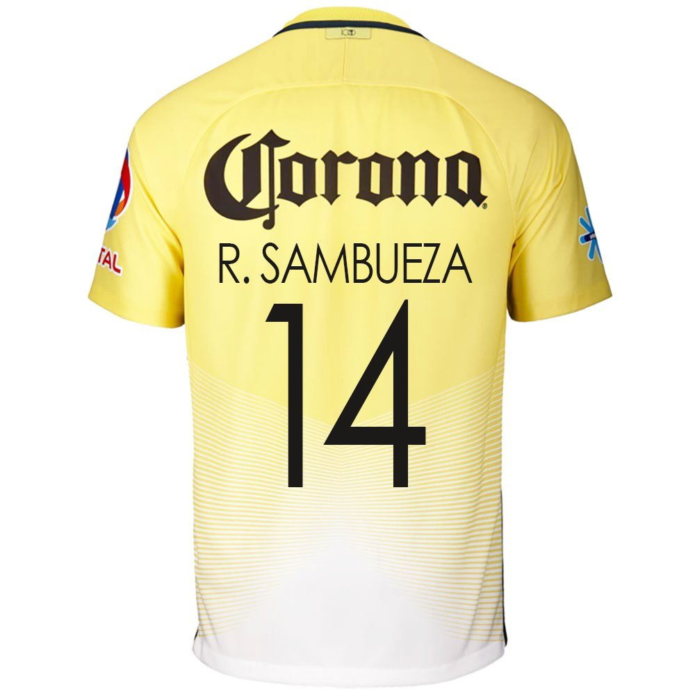 1964efd2e9a Amazon.com: Nike R. Sambueza #14 Nike Club America Home Men's Soccer Jersey  2016/17 (S): Clothing