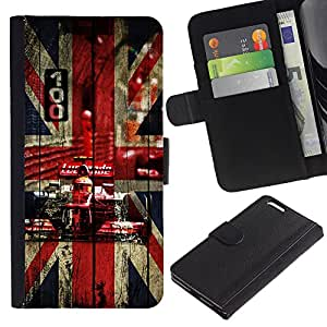UNIQCASE - Apple Iphone 6 PLUS 5.5 - UK British F1 Formula - Cuero PU Delgado caso cubierta Shell Armor Funda Case Cover