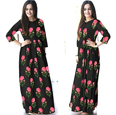 97f7711edf Prayosha Fashion Kurti and Dress Material and Gowns for Women-FLOWER RUTBA  KHAN VOL 1 Black: Amazon.in: Clothing & Accessories