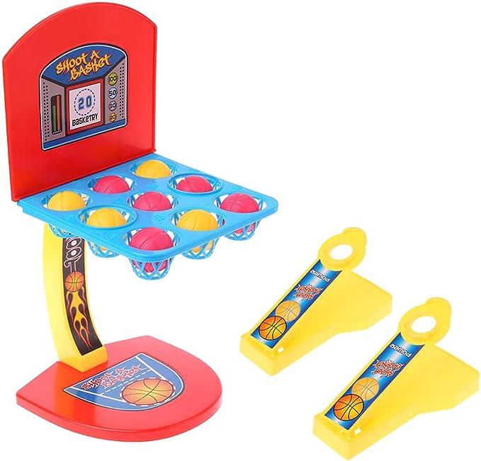 MIKI-Z Mini Mesa Juguetes Tiro de Escritorio Aro de Baloncesto Juego Interactivo para Padres e Hijos Regalo para niños Niños: Amazon.es: Hogar