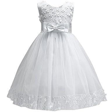 fd9969c76afc6 Enfant Fille Robe Demoiselle d honneur Princesse Plissée Corsage Florale  Fleur Costume Habillée de Soirée