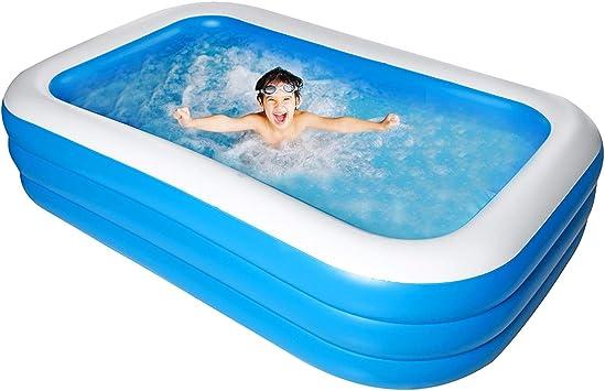 Bilisder Piscina Hinchable Familiar para Niños, Adultos, al Aire Libre, Fiesta de Verano en el Agua 305x 185x 60cm: Amazon.es: Juguetes y juegos