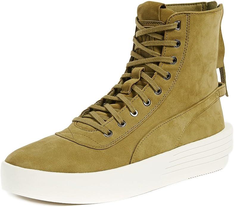 PUMA Select Men's x XO Parallel Sneaker Boots, Green Olive, 9.5 D(M) US