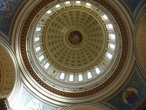 Home Comforts LAMINATED POSTER Capital Wisconsin Cupola Dome Usa Madison Poster 24x16 Adhesive (Dome Cupola)