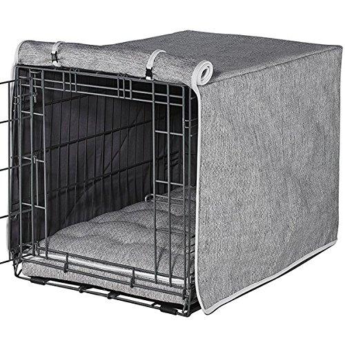 Microlinen Luxury Crate - Bowsers Luxury Crate Cover, Medium, Allumina