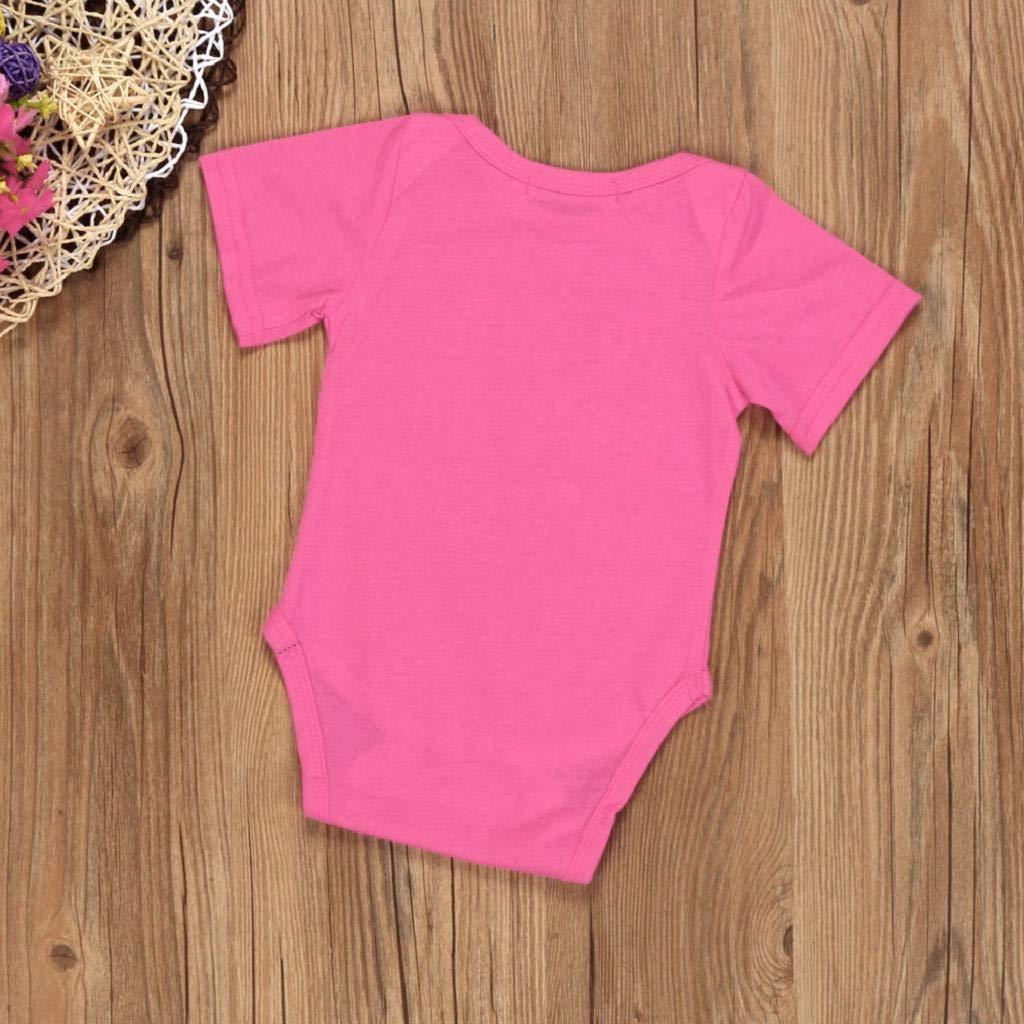 SAKAMU-Newborn Infant Baby Boy Girl Short Sleeve Letter Print Romper Jumpsuit Clothes