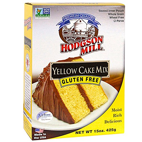 Hodgson Mill Gluten-Free Yellow Cake Mix, 15-Ounce (Pack of 6), Gluten-Free Boxed Cake Mix Great for Birthday Cakes or Holiday Baking, Add Your Favorite Cake Toppers Decorations and Icing