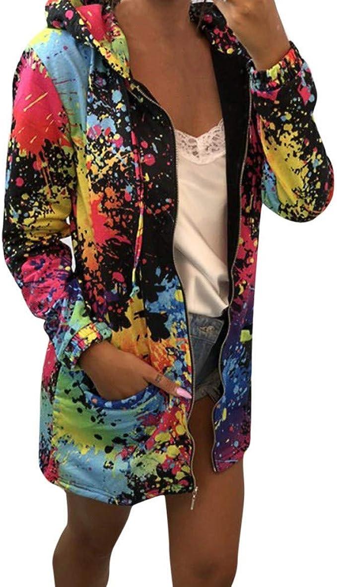 JURTEE Fashion Autumn Winter Womens Hooded Long Sleeve Coat Jacket Windbreaker Camouflage Outwear