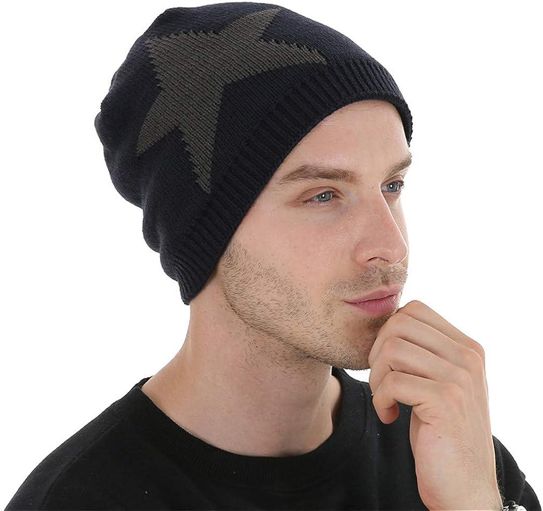 ZHENYSHKD Mens Skullies Winter Knitted Hat Beanie Hats for Men Beanies Warm Bonnet Wool Cap Boy Striped Casual Caps