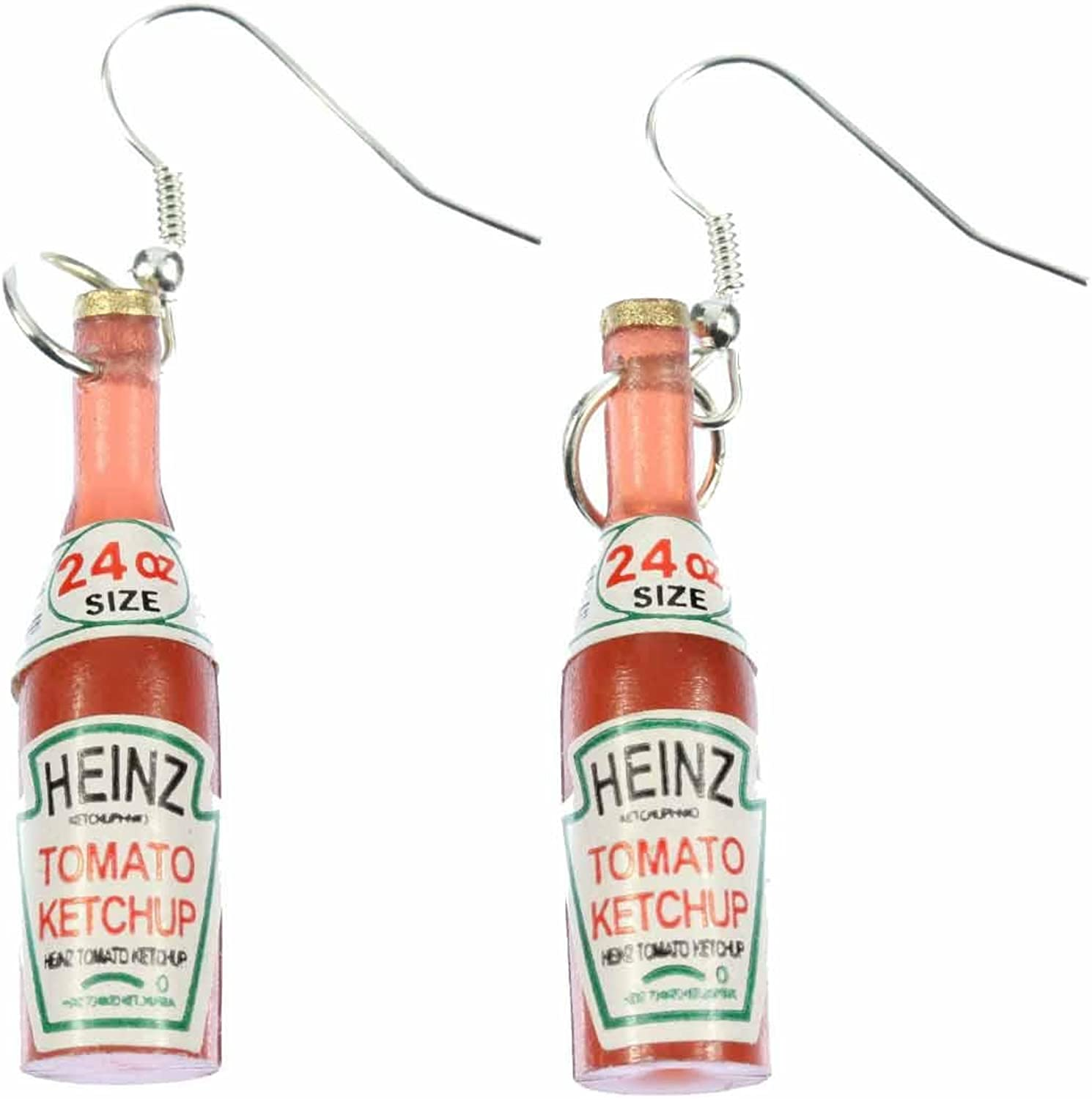 Ketchup Bottle Earrings Miniblings Bbq Fast Food Kitchen Fries