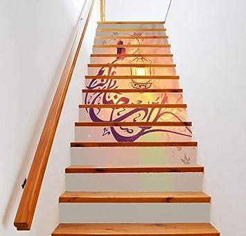 13Pcs / Set adhesivos para escaleras, papel autoadhesivo para iluminación 3D, adhesivos para escaleras de vinilo, decoraciones para el hogar (39.4x7.1Inch): Amazon.es: Bricolaje y herramientas