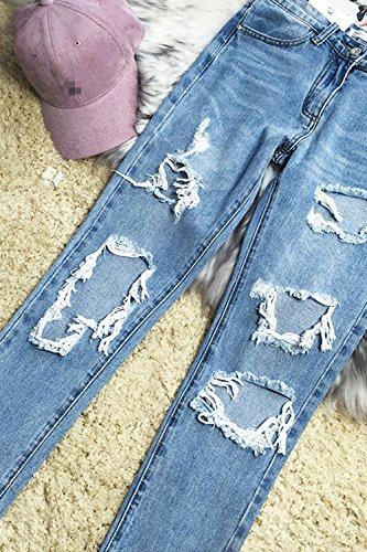 Pantalons Petit Femmes Hot Les Jeans Les Jeans Ami Cheville Dtruit blue xa4WZqwT