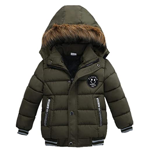 Goodkids Toddler Boys Down Jacket Winter Jacket Hooded Thickened Warm Snowsuit Coat Parka Outerwear by Goodkids
