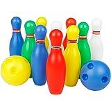 12 Stück Bowlingkugel Boule-Spiele Kegelspiel pädagogische interaktive Spielzeug für Kinder ab 3 Jahren (Small)