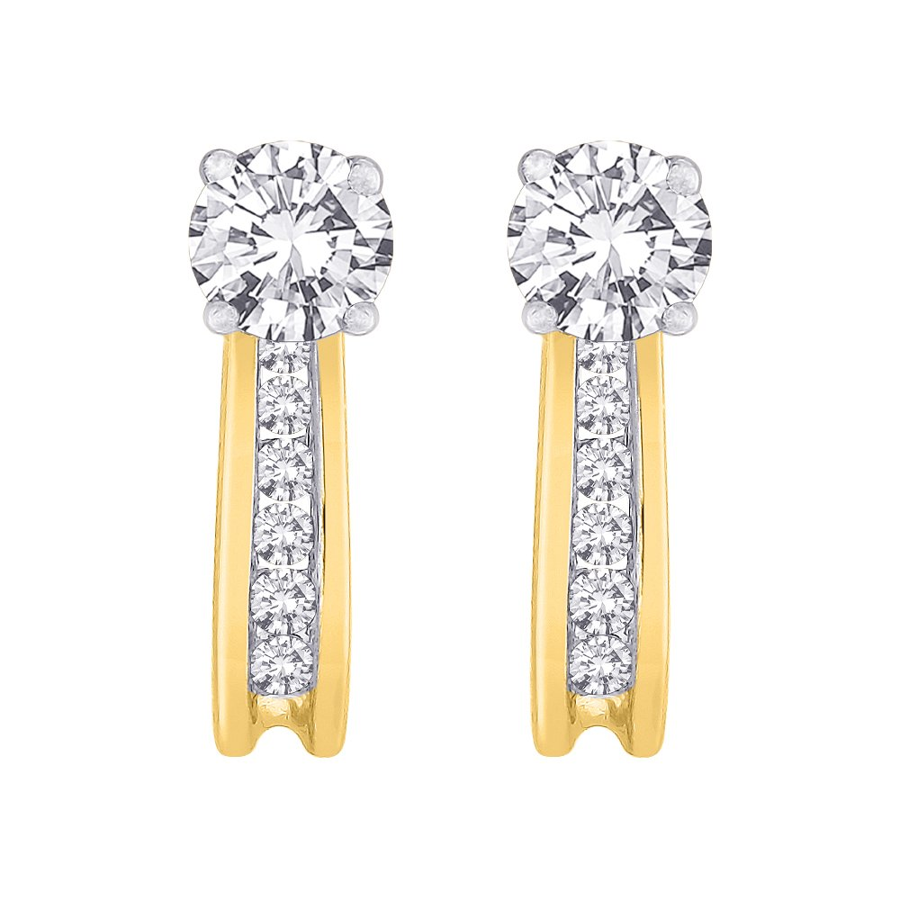 Diamond Earring Jackets in 10K Yellow Gold (1/4 cttw) (Color JK, Clarity I2-I3) by KATARINA
