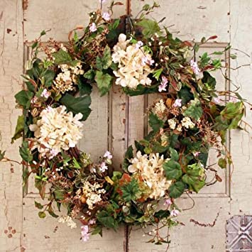 Summer Garden Spring Door Wreath 22 in : door wreath - pezcame.com