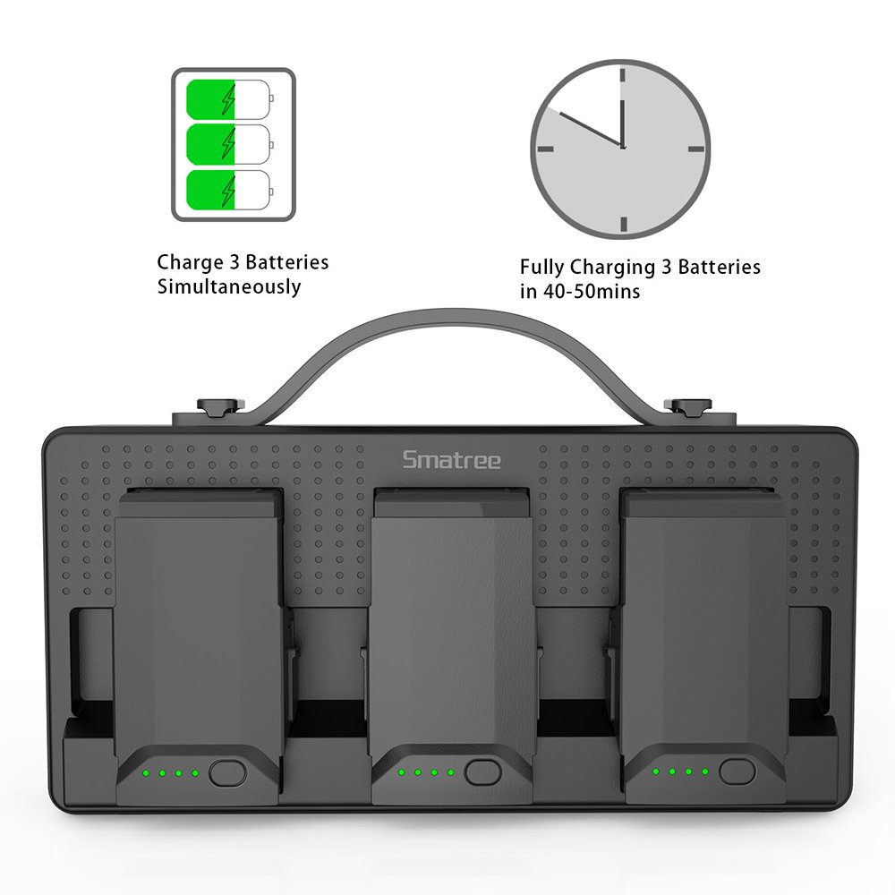 Smatree Portable Charging Station Compatiable for DJI Mavic Air Battery, 158Wh Rechargeable Power Bank Batteries Charger(Charge 3 Mavic Air Batteries Simultaneous and up to 5-8 Mavic Air Batteries by Smatree (Image #3)