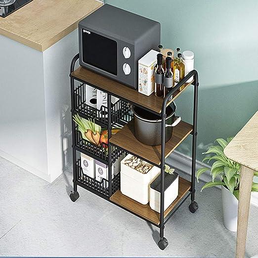 Soporte para Carrito de microondas de 33.5 Pulgadas, Almacenamiento de Utilidad de Cocina de 3 Niveles + Mesa de 3 Niveles para Especias, Organizador de estación de Trabajo: Amazon.es: Juguetes y juegos