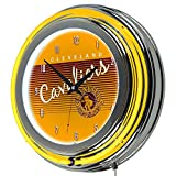 NBA Cleveland Cavaliers Chrome Neon Clock, One Size, Chrome