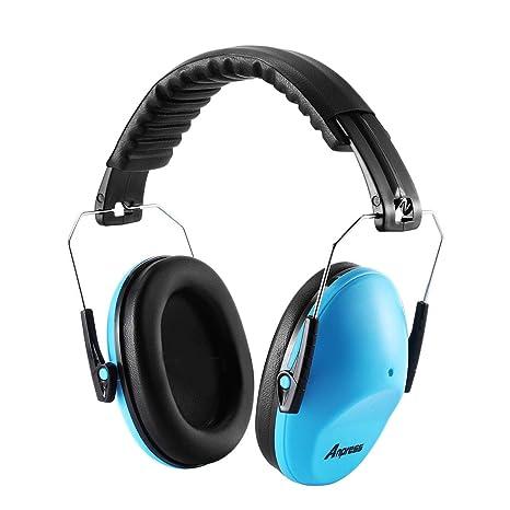 Anpress - Auriculares de protección auditiva con diadema acolchada y ajustable, reducción de ruido,