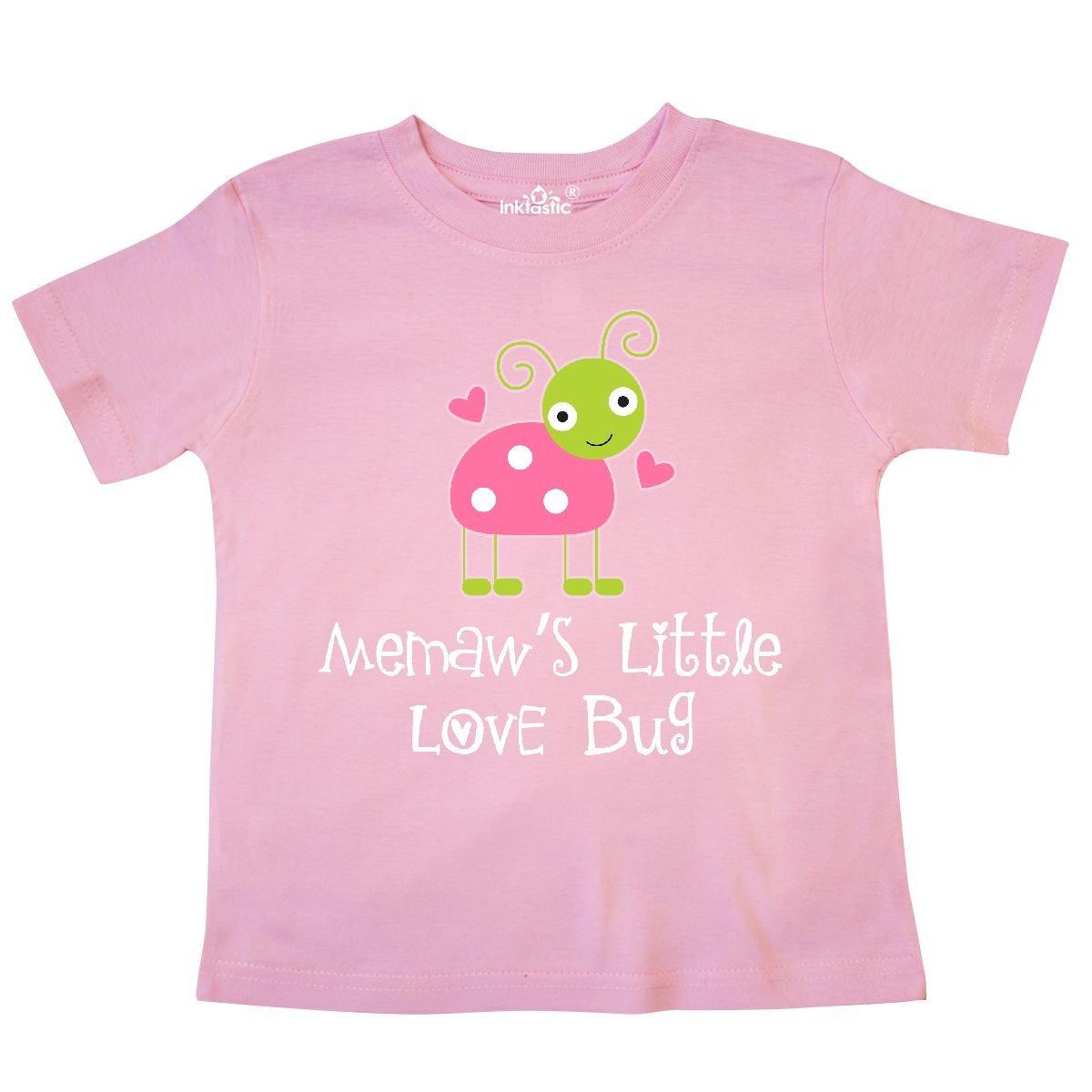 inktastic Memaw Valentines Day Grandchild Ladybug Toddler T-Shirt