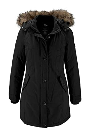 6bb50052ced7 Tom Tailor Marken-Jacke mit Webpelz schwarz Größe S  Amazon.de ...