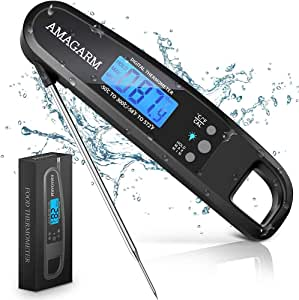 [LATEST 2020] Meat Food Thermometer for Grill and Cooking, 2S Best Ultra Fast Instant Read Waterproof Digital Kitchen Thermometer Probe for Grilling, BBQ, Baking, Candy, Liquids, oil