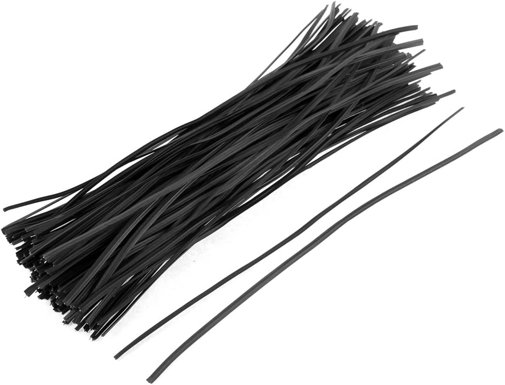 uxcell Metal Cord Cable Binding Bags Packaging Twist Ties 8inch 130pcs Black