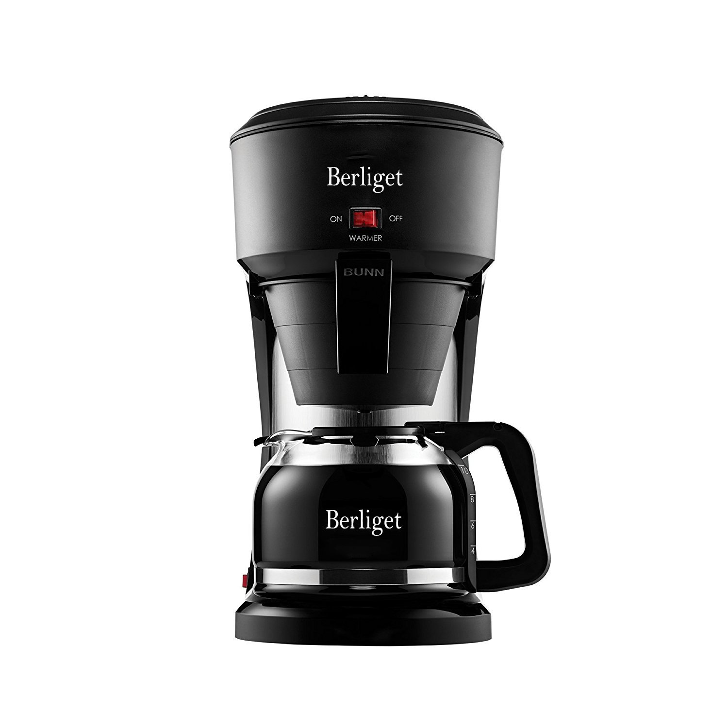 Berliget Personal 1 Cup Drip Coffee Maker to Brew Ground Beans - Black and Silver Single Serve One Cup Coffee Dripper