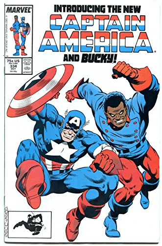 Captain America #334 comic book 1987-New Cap and Bucky--Marvel Copper Age NM-