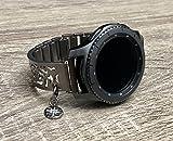 Best Samsung Of The Bangles - Brushed Gunmetal Black Bracelet For Samsung Gear S3 Review