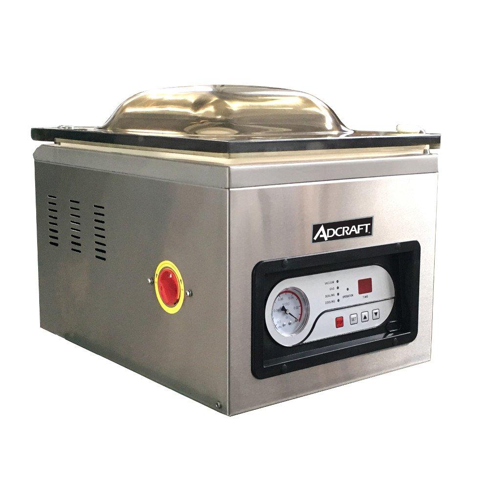 "Adcraft VS-300 Countertop Vacuum Packaging Machine 11-1/2""W x 15-1/4""D x 2-3/4""H Single Chamber"