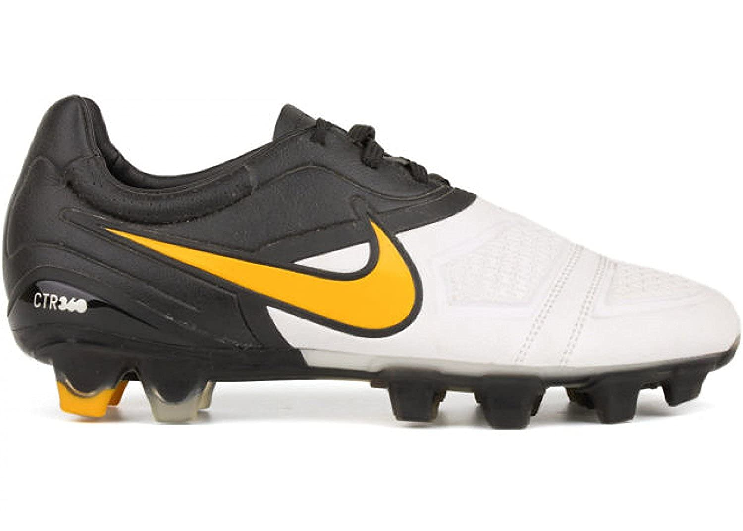 san francisco 082be 943ba Amazon.com  Nike CTR360 Maestri FG Soccer Cleats - White Del Sol Black (6)   Sports   Outdoors